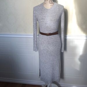 🔥BOGO🔥 Vero Mode Grey Knit Sweater Dress